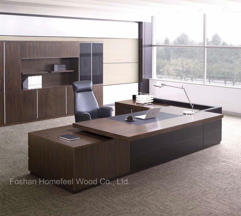 China Modern Wooden Office Furniture Desk For Sale