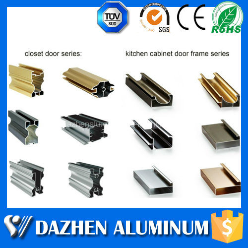 Kitchen Door Frame Cabinet Aluminium Aluminum Extrusion Profile With Anodized Powder Coated