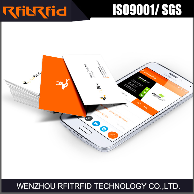 China 13.56MHz Writable NFC Business Card for Vcard - China NFC Card ...