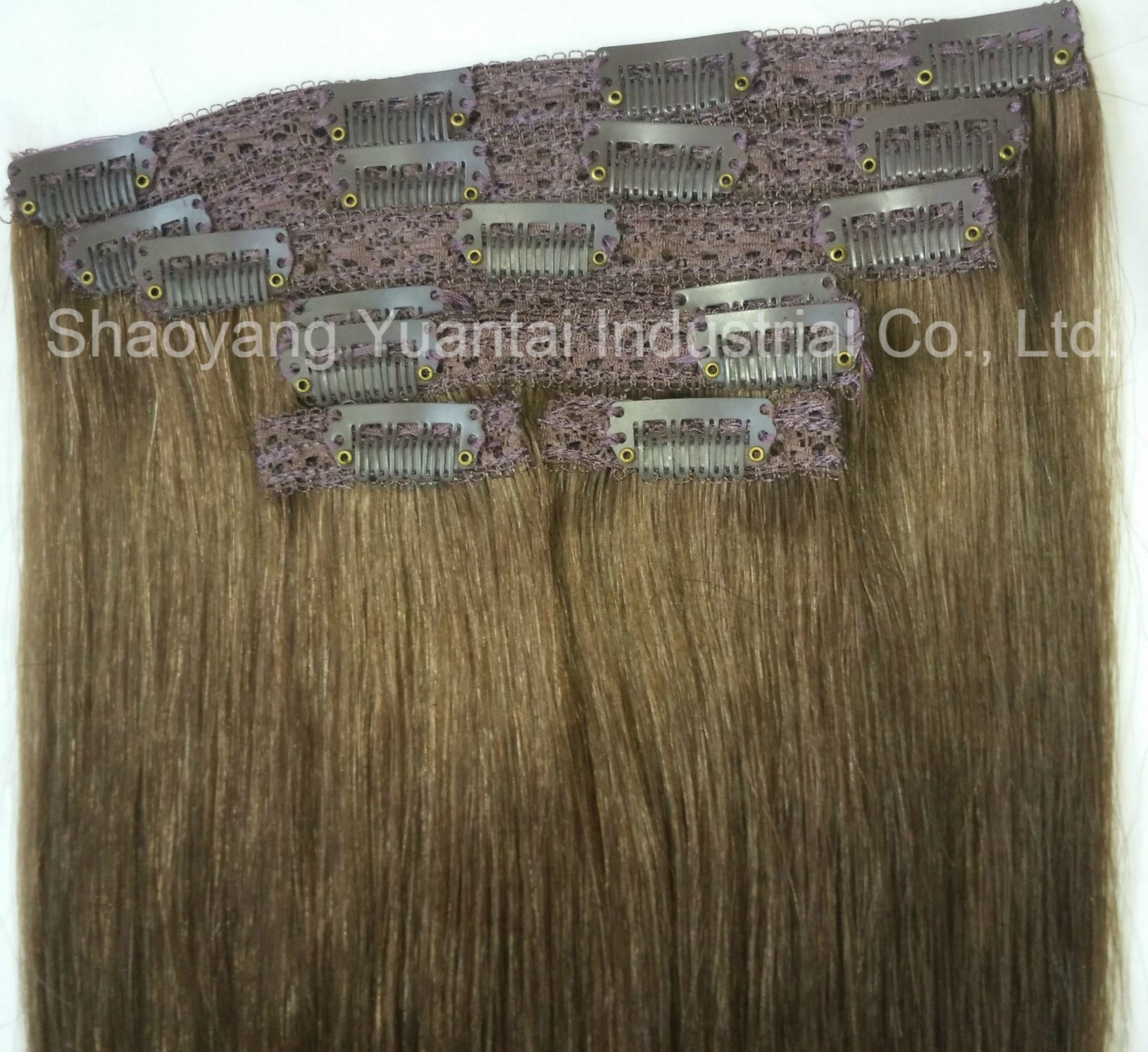 Clip In Indianchinese Virgin Human Hair Extension Favorable Price