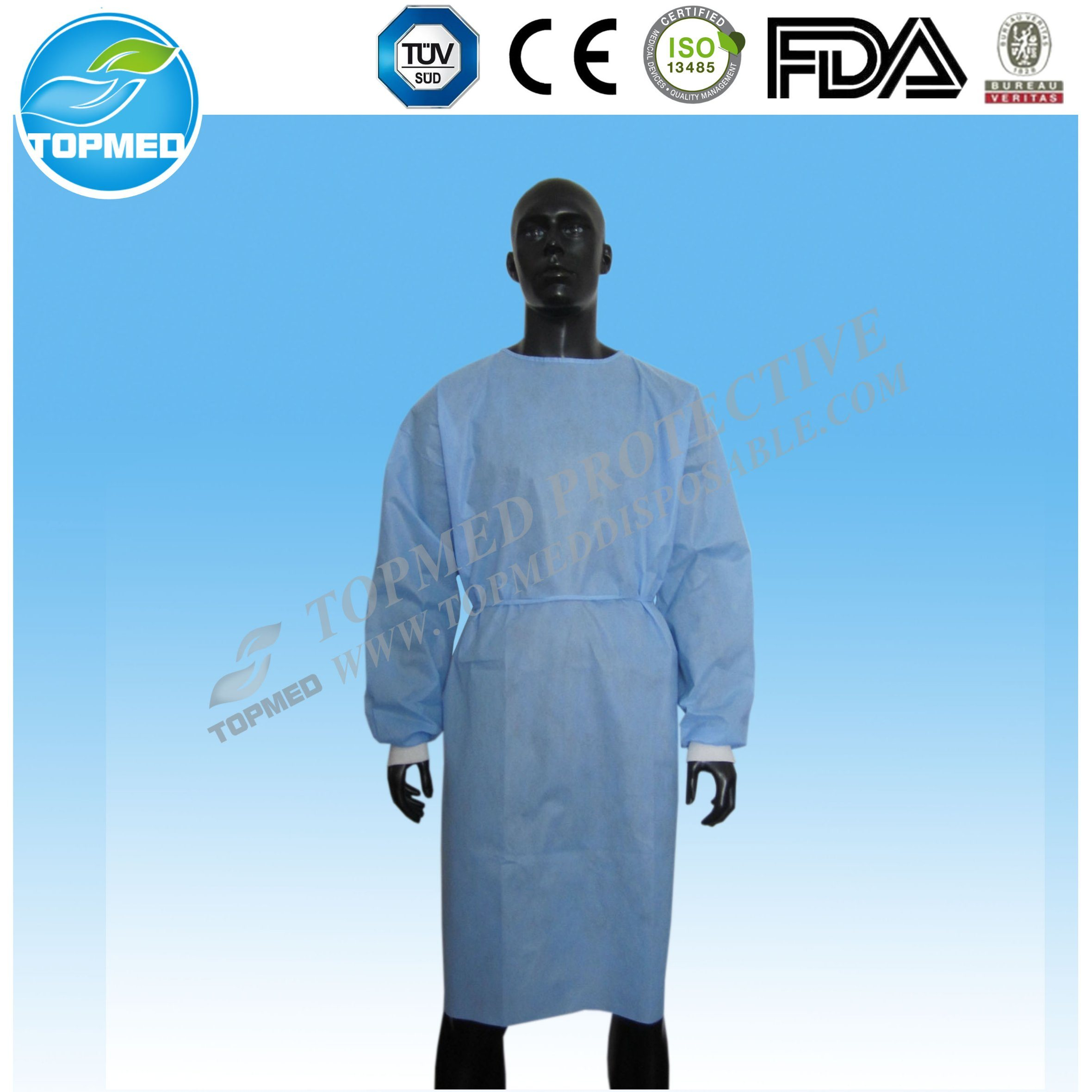China SMS Medical Gown, Surgical Gown, Hospital Clothing Ce Approved ...
