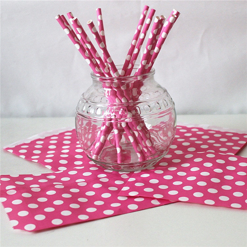 Pink DOT Paper Party Items