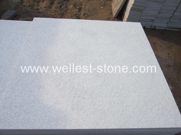 China Pure White Quartzite Flamed Tile 300x600 Pool Paver House Floor