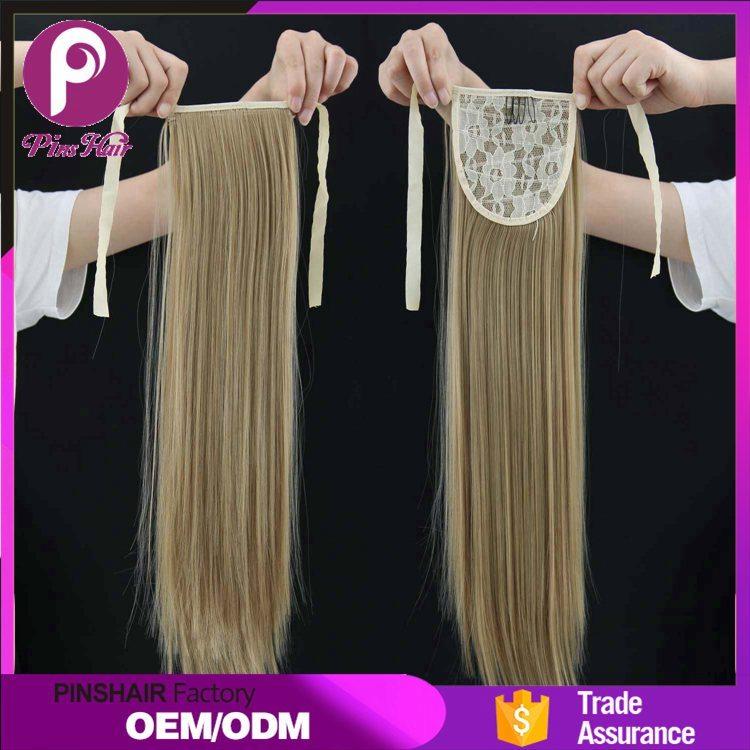 China Pinshair New Arrival Free Sample Synthetic Ponytail Hair