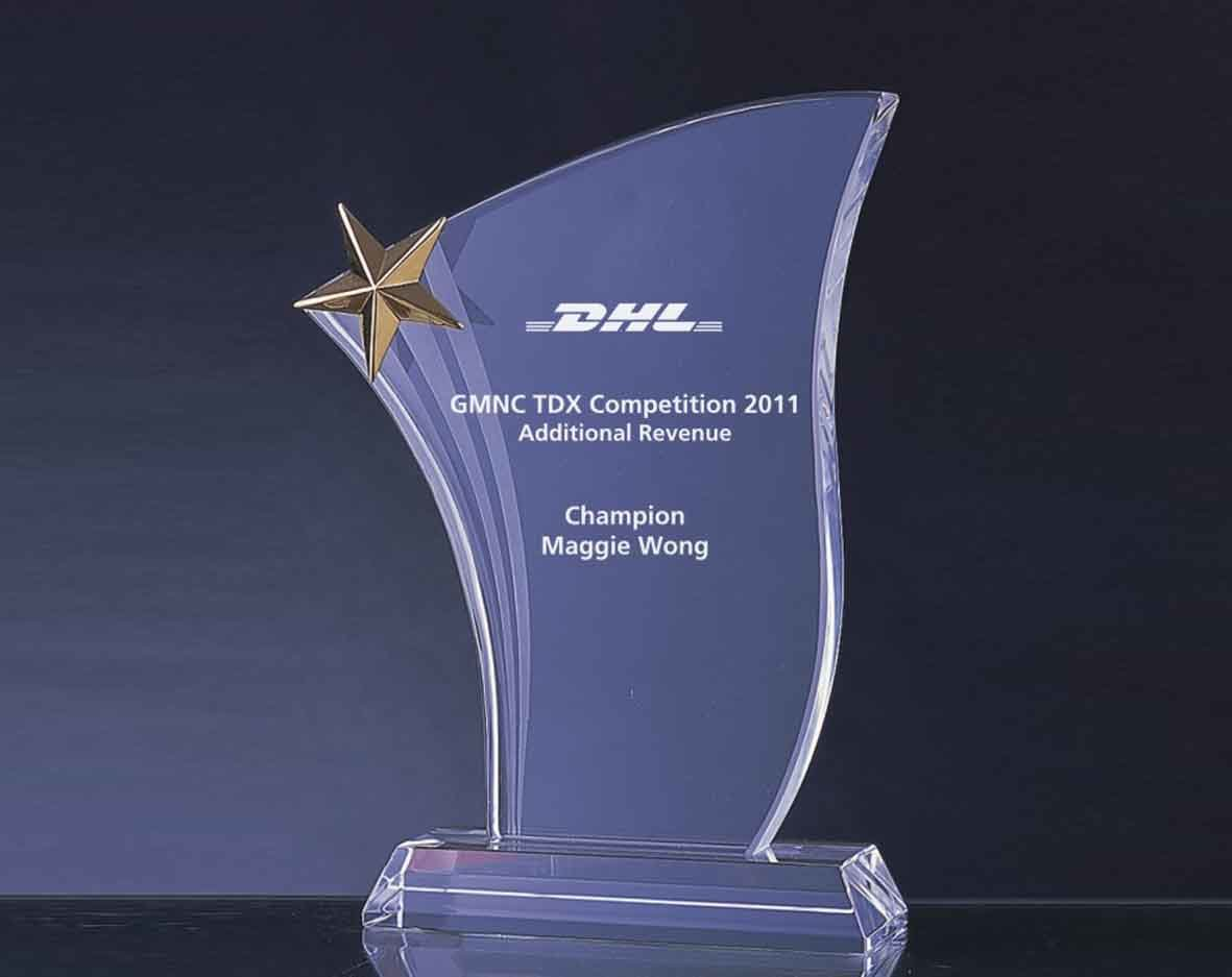 China Nice Crystal Award Trophy Whtc C0134 China