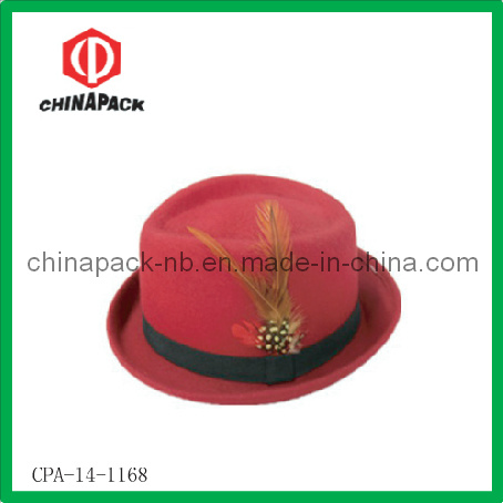 4fd6acf8153e2 German Fedora Wool Felt Top Hat with Feather (CPA-14-1168). Get Latest Price