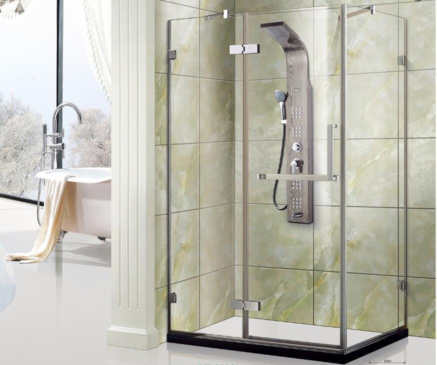 China Free Standing Pivot Door Frameless Tempered Glass Shower