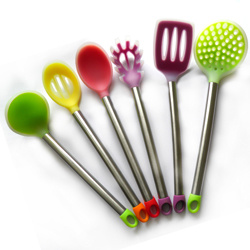 [Hot Item] 6PCS Prefect Silicone Kitchen Cooking Tools / Silicone Kitchen  Utensil Set / Silicone Kitchen Utensils