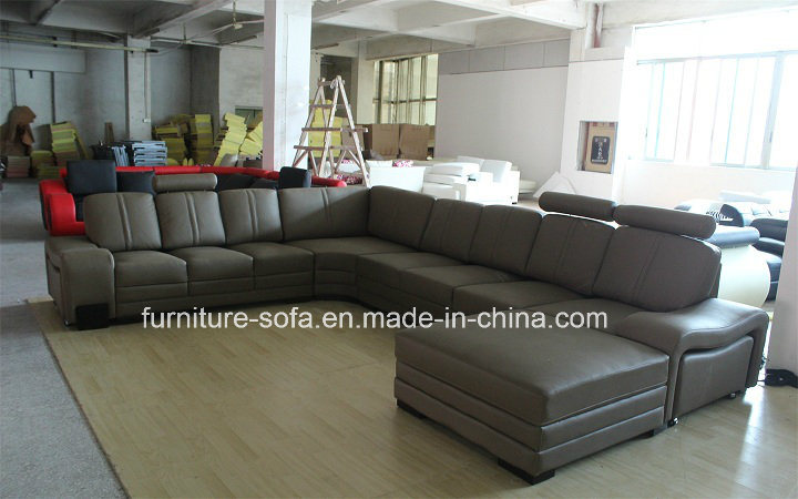 High Back Italy Leather Corner Sofa