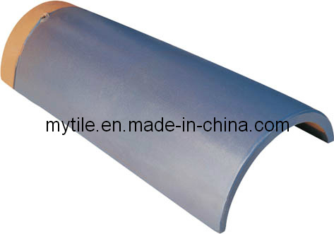[Hot Item] Half Round Clay Roof Tiles Blue Glazed (M1803)