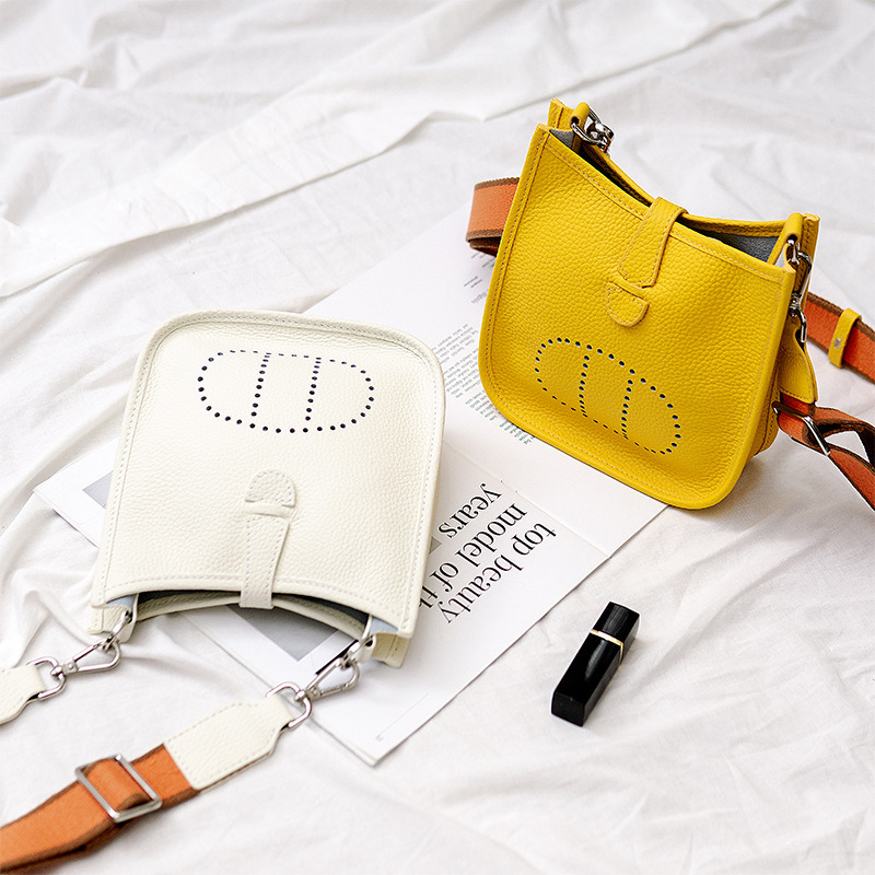 Candy Color Evelyne Bag Hollow Leather