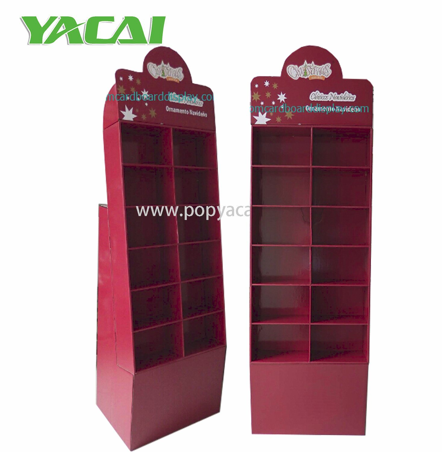 China Greeting Cards Cardboard Display Stand With Pockets For