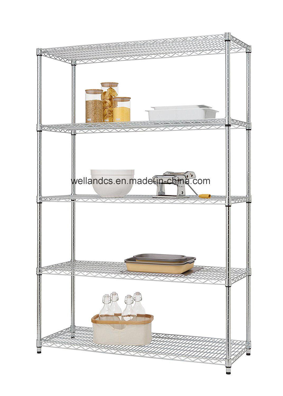 China Basic 5 Shelf Heavy Duty NSF Chrome Steel Storage Wire ...