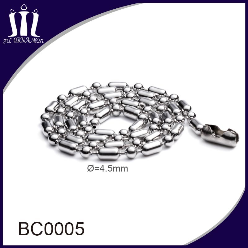 High Quality Fine Metal Beads Chain 4.5mm
