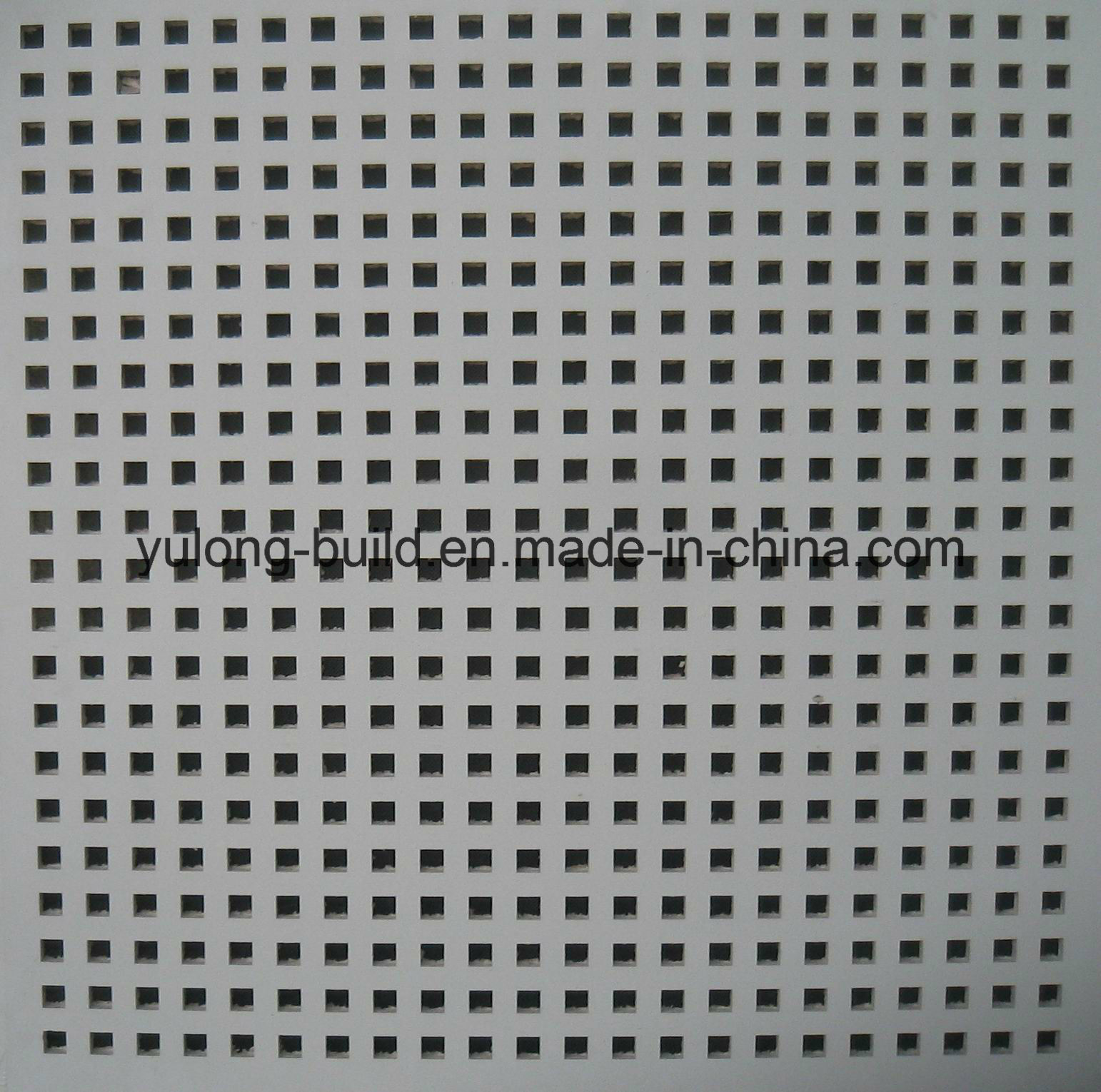 China Acoustic Sound Absorbperforated Gypsum Ceiling Tiles Photos