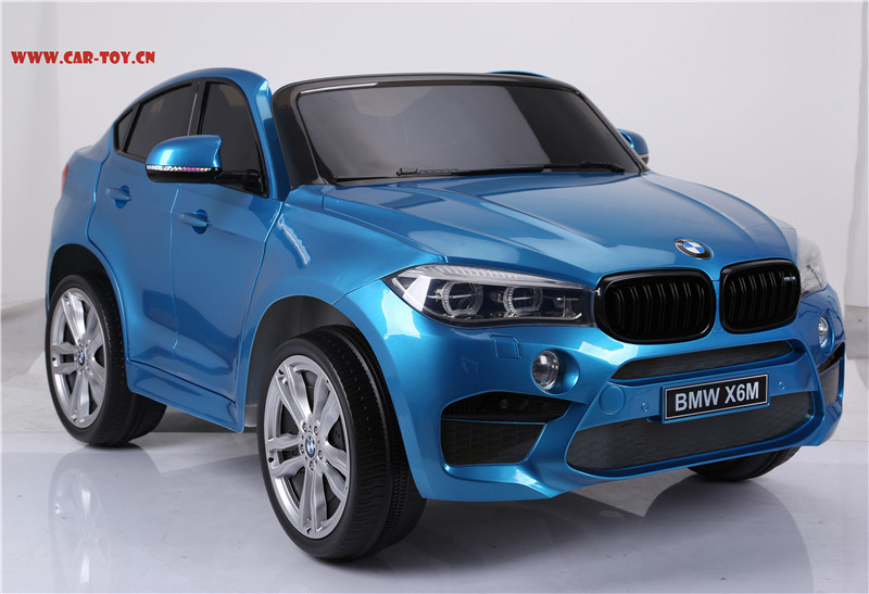 Hot Item Licensed Bmw X6 Kids Electric Car With 2 Seats Plastic Blue