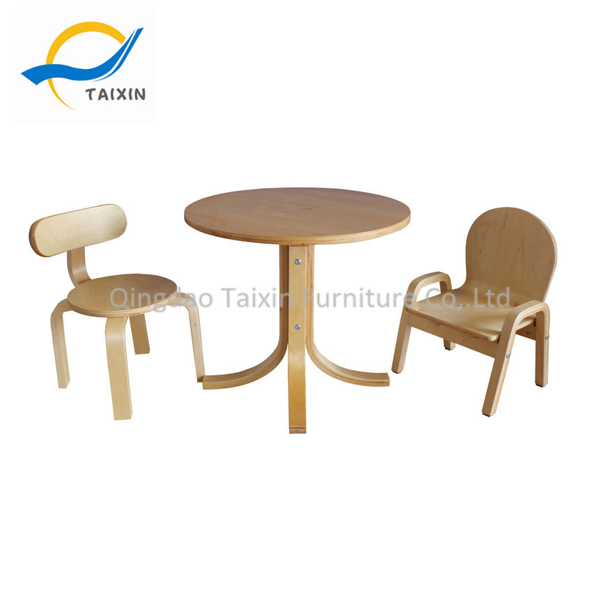 China Baby Wooden Furniture Round Dining Tables with Chairs - China ...