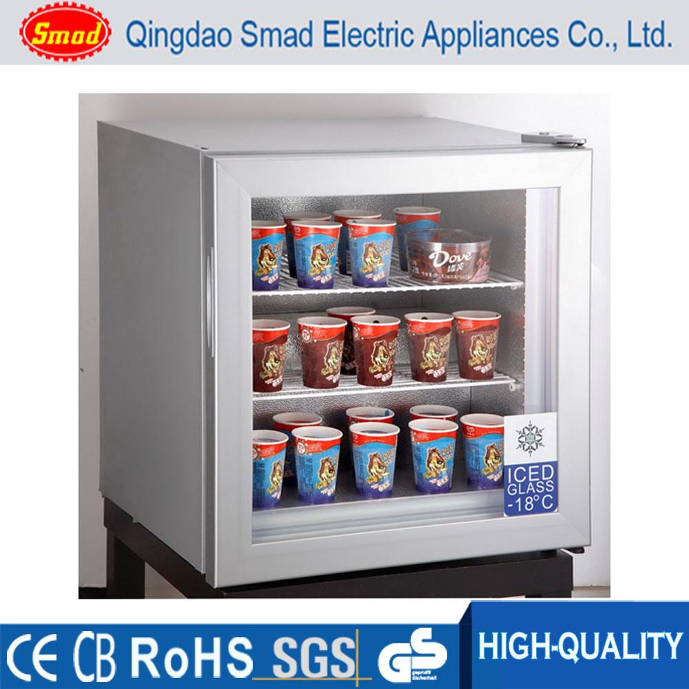 Countertop Freezer Mini Ice Cream Display Upright Glass Door