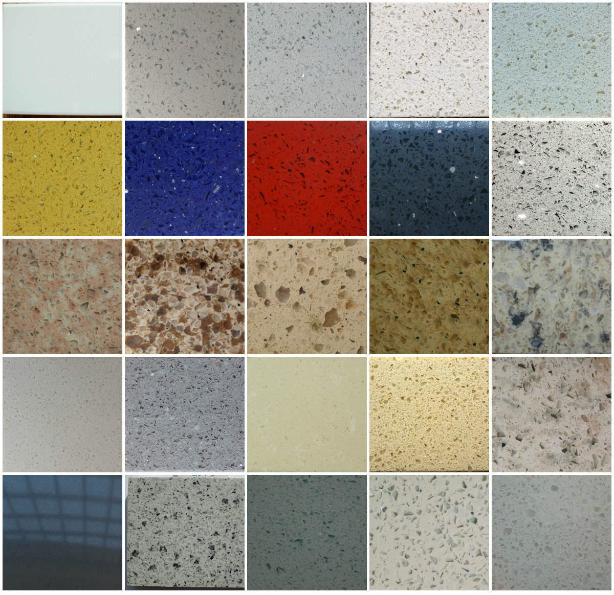 China Artificial Solid Surface Engineering Quartz Stone