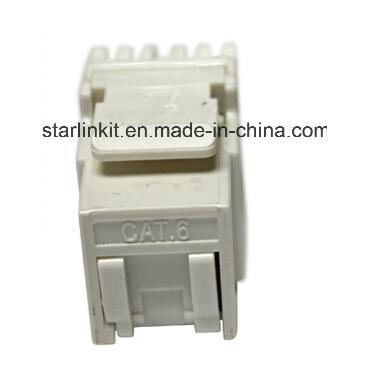 CAT6 UTP 180 Degree Keystone Jack for Information Outlet