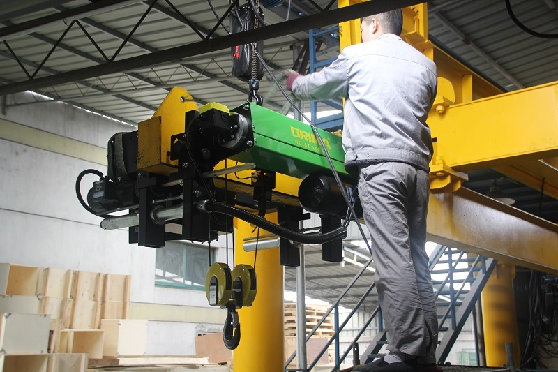 2m/M5 European Type Double Girder Electric Wire Rope Hoist 3ton
