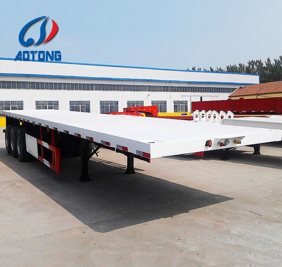 High Quality New 3axle 40FT Flatbed Container Semi Trailers for Sale pictures & photos