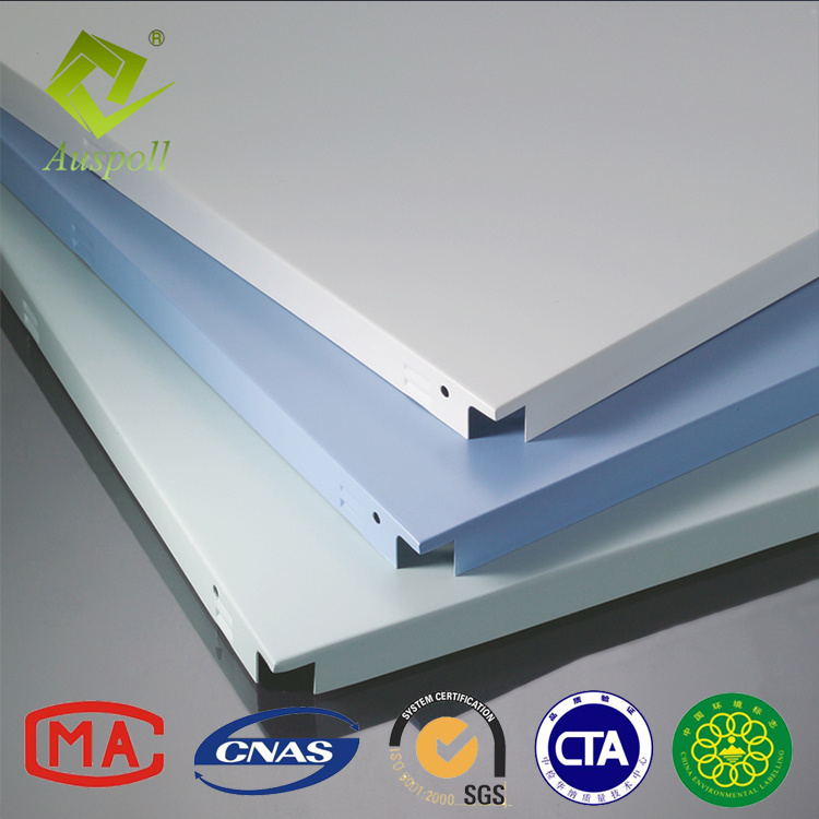 China Perforated Aluminum Interior Decorative Clip In Ceiling Tile Snap Profile Panels