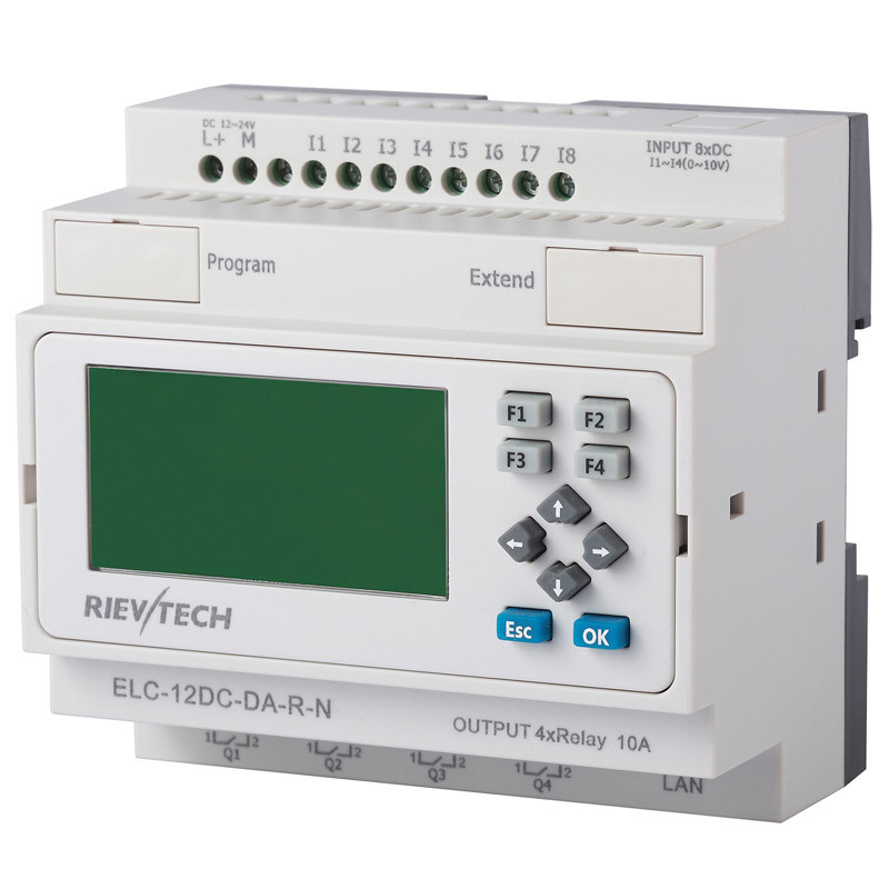 Ethernet PLC, Ideal Solution for Remote Control (ELC-12DC-DA-R-N-HMI)