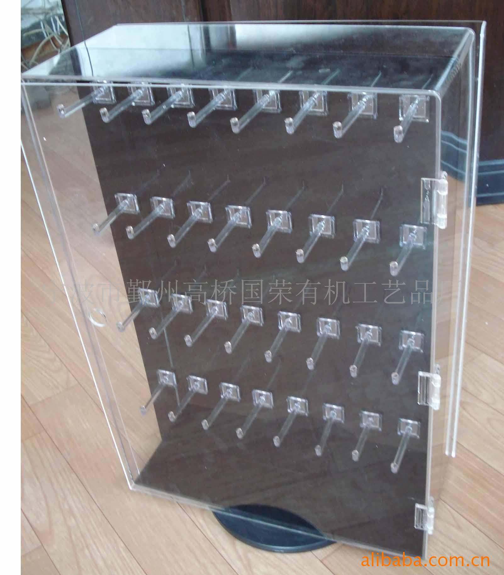 Clear Acrylic Flooring Plastic Shoe Storage Sunglasses Display Cabinet