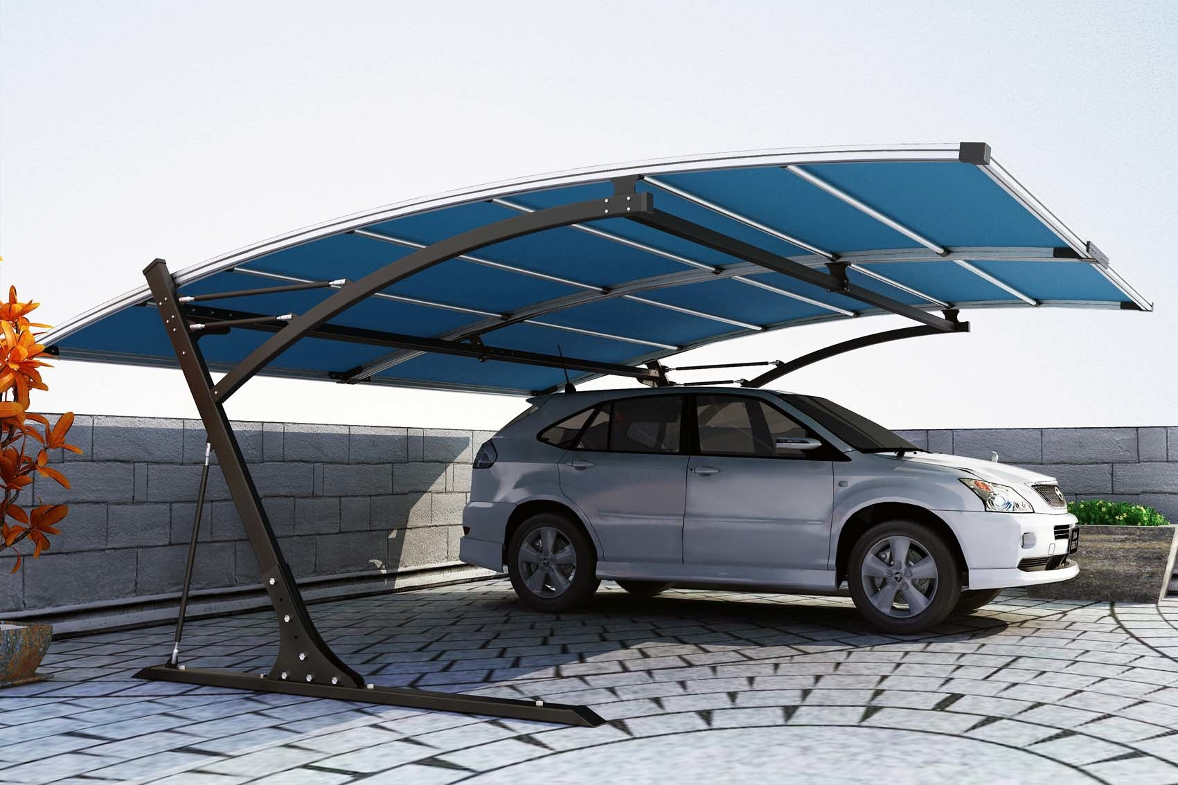 New Design Metal Carport with Logo