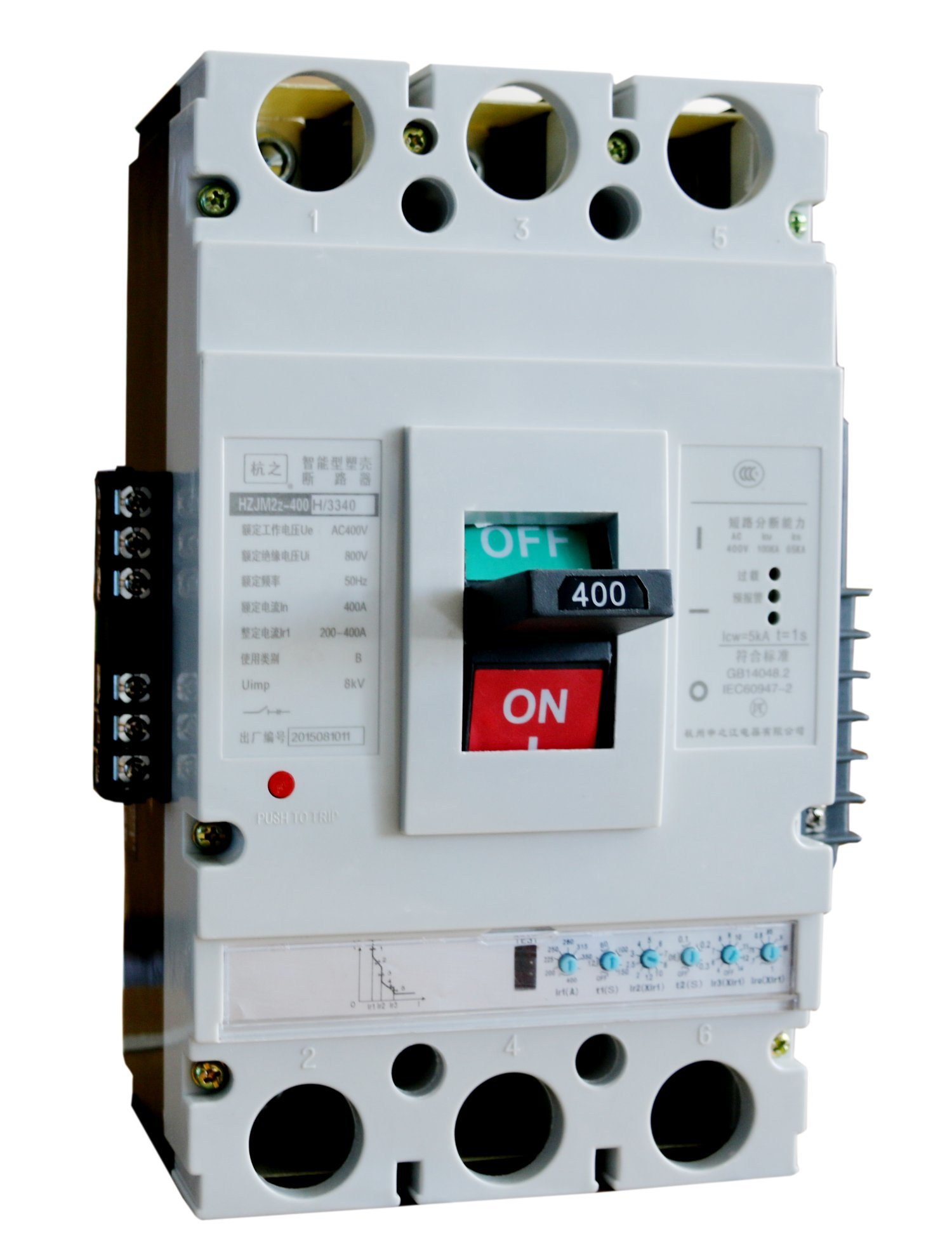 China MCCB Circuit Breaker Air Circuit Breaker MCCB 630A Adjustable ...