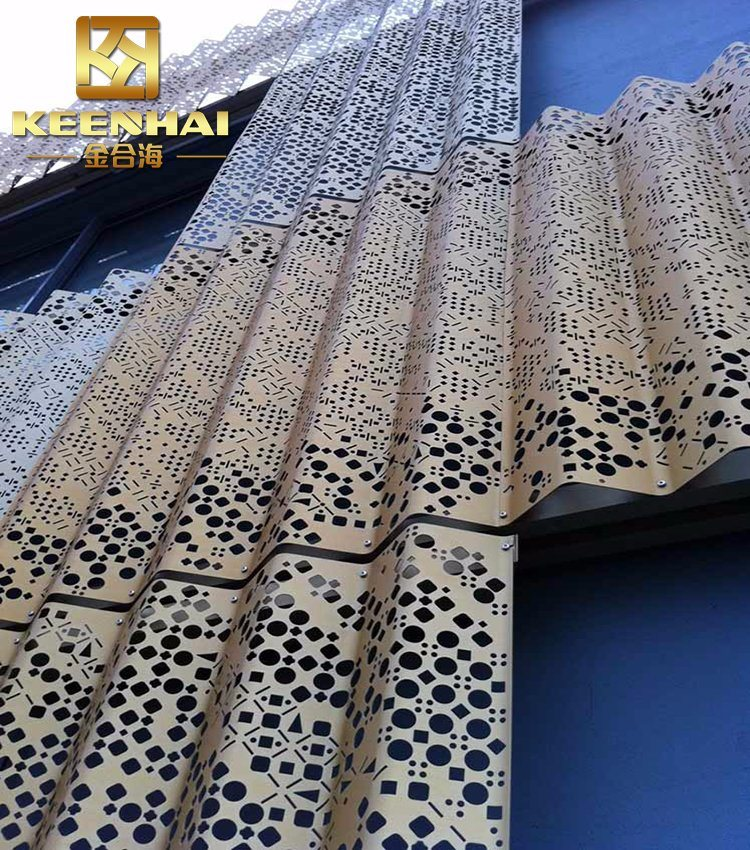 China Decorative Perforated Corrugated Metal Curtain Wall for Balcony (Keenhai-CW005) - China ...