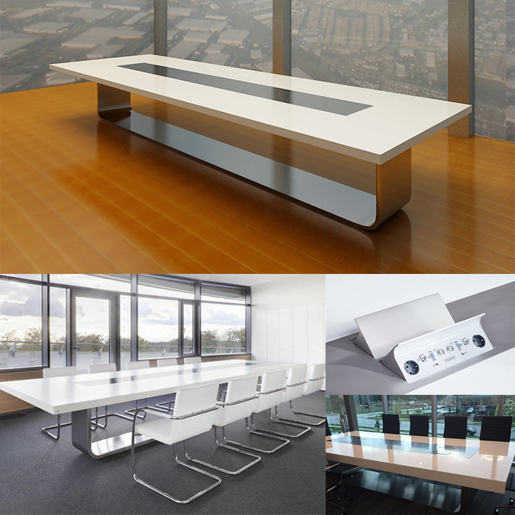 China Contemporary Circular Commericail Computer Conference Table In - 14 foot conference room table