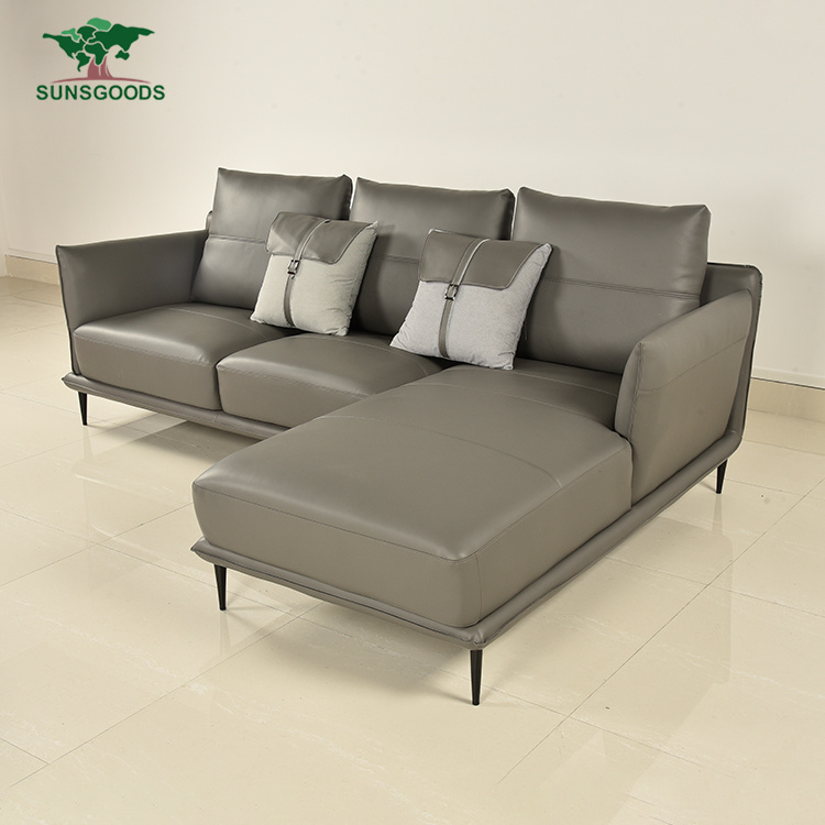 China Factory Price Simple Luxury Style L-Shaped Sofa Set - China Latest Couches Design, Corner Sofa