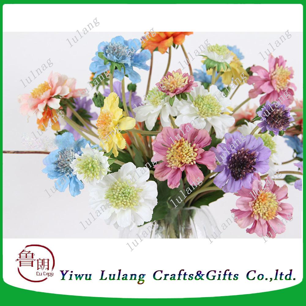 China Artificialplasticsilk Flower Windmill Chrysanthemum Flowers