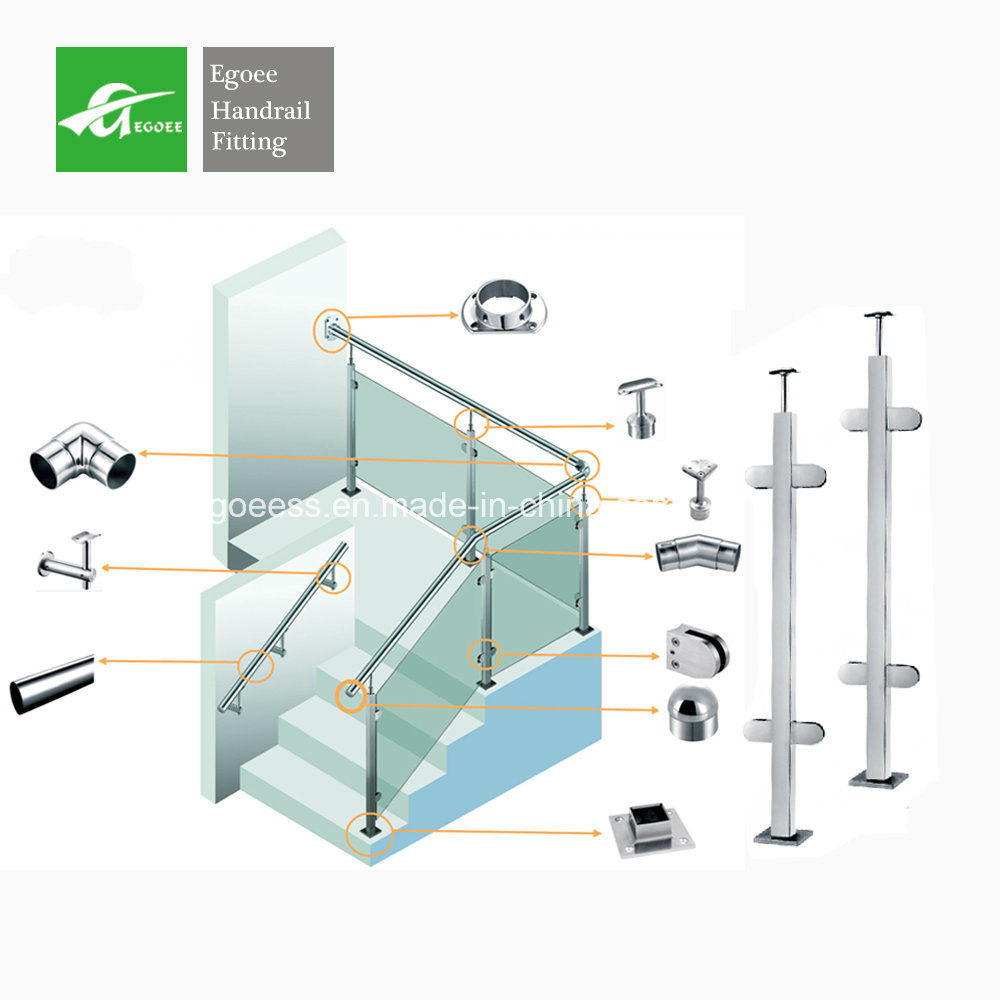 China Floor Mounting Stainless Steel Pipe Stair Removable Handrail ...