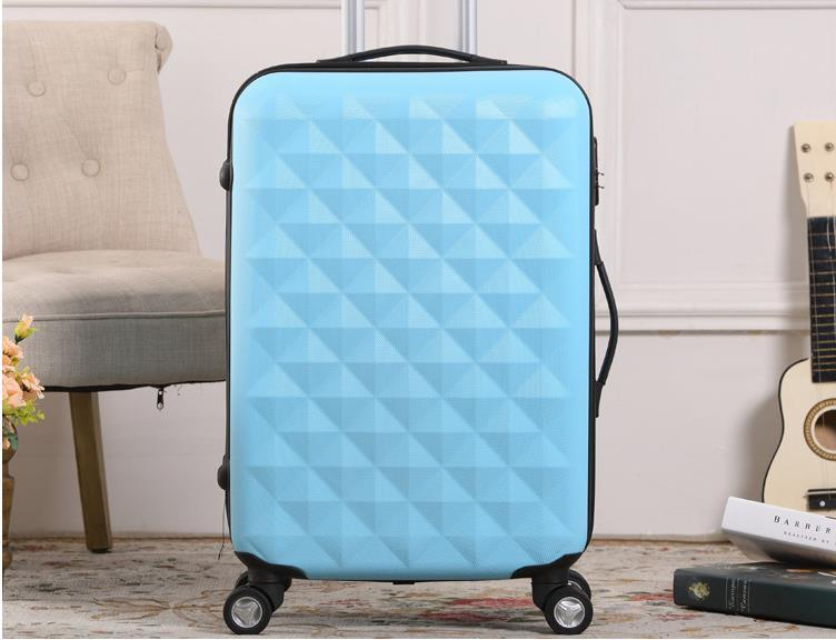 2018 ABS Protector Water Cube Trolley Case Luggage Suitcase Set Luggage pictures & photos