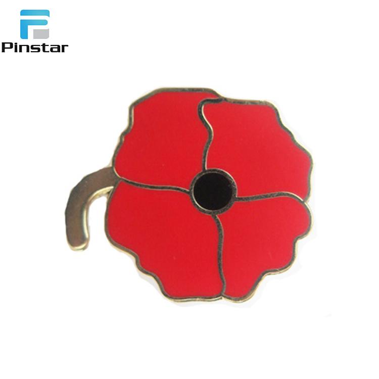 [Hot Item] Metal Sale Poppy Flower Remembrance Day Poppy Lapel Badge