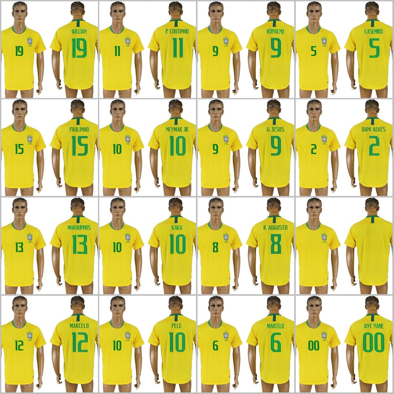 newest 6a45f 3a36f [Hot Item] 2018 Fifa World Cup Football Brazil National Soccer Jerseys Home