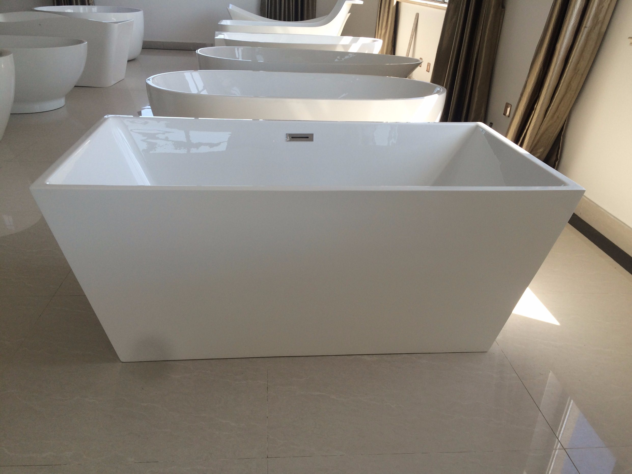 Square Acrylic Freestanding Baths Similar To Stone Resin Bathtub