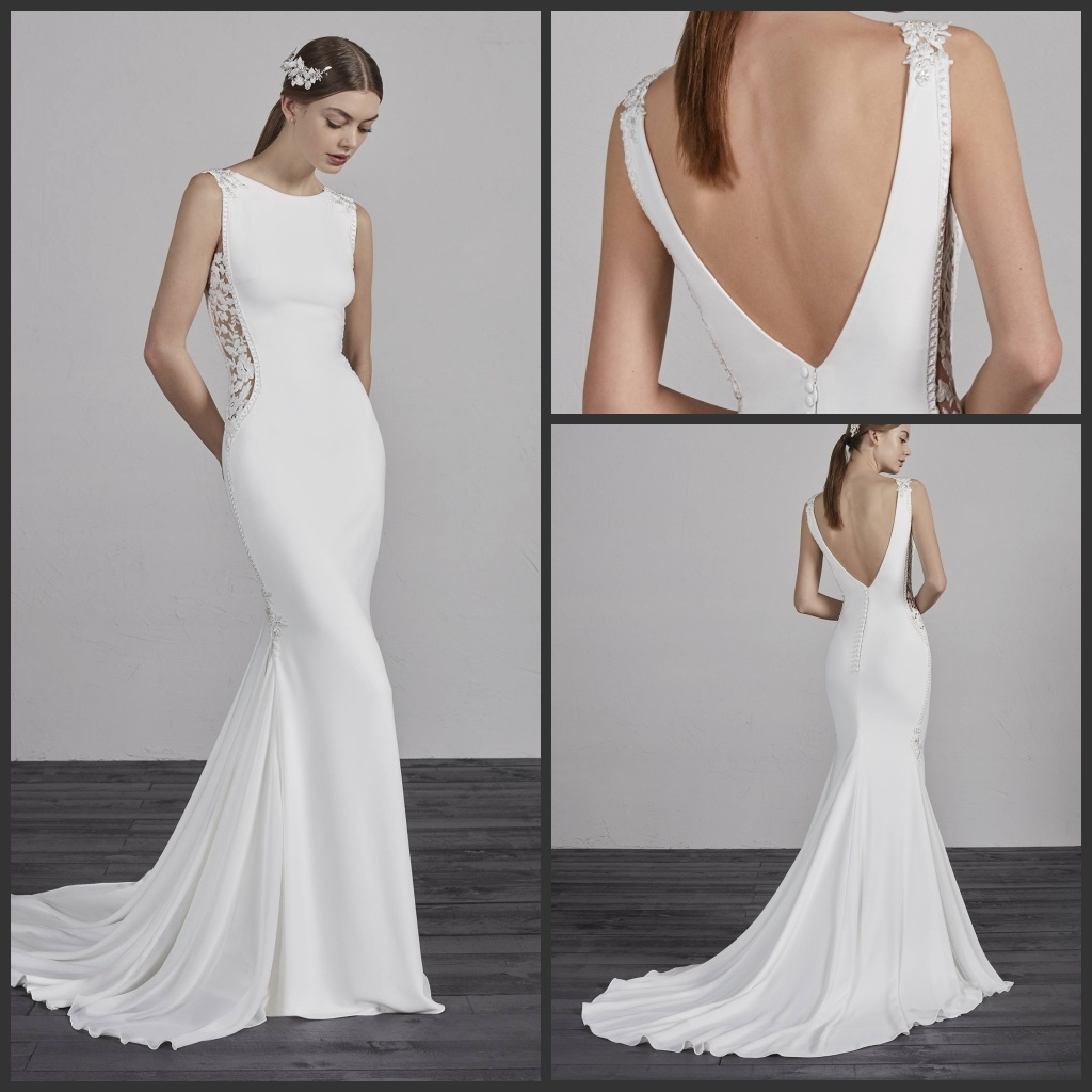 China 2018 Spandex Bridal Gowns Sleeveless Boho Wedding Evening ...