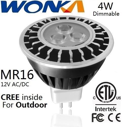 [Hot Item] Wonka 4W Dimmable LED MR16 Spotlight for Outdoor Lighting