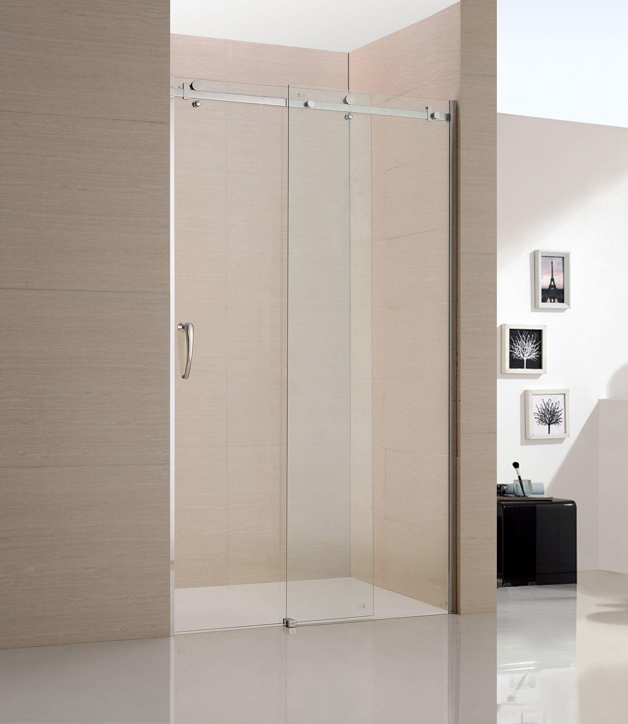 China 1 Sliding Door 1 Fixed Panel S S Shower Screen Shower Door