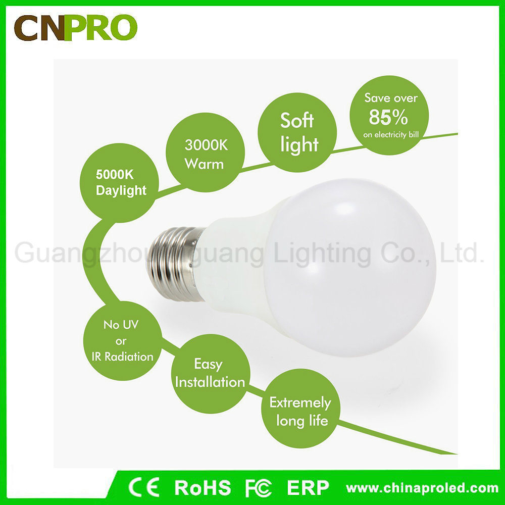 Best A19/A60 3W 5W 7W 9W 12W Energy Saving LED Light Bulb Lighting E27 E26 B22 pictures & photos