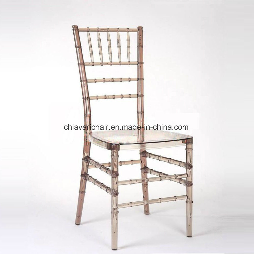 China Clear Champagne Polycarbonate Resin Chiavari Chairs