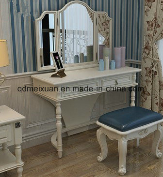 [Hot Item] American Small Family Dresser European Makeup Cabinet Wood  Makeup Table Country Bedroom Furniture (M-X3532)