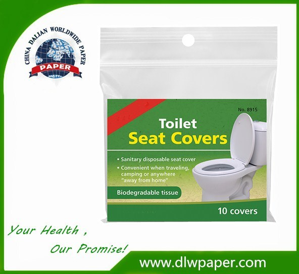 10 Disposable Flushable Paper Toilet Seat Covers Travel Biodegradable Sanitary