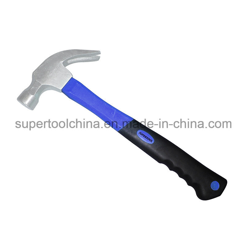 Quality Drop Forged Steel Claw Hammer with Fibreglass Handle