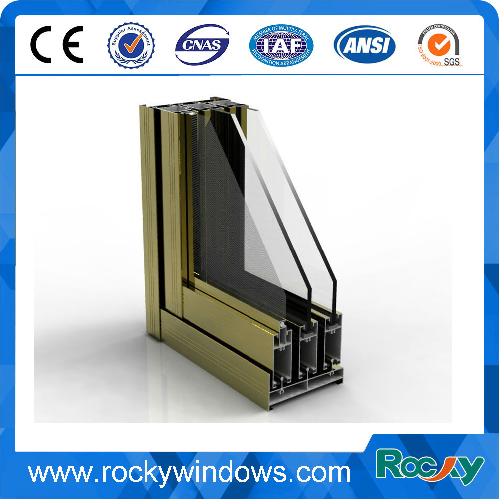 China Easy Cleaning Waterproof Window Frame Aluminium Profile Photos ...