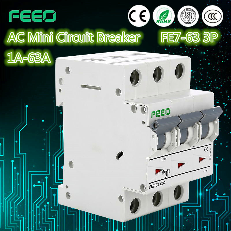 China 3p Fe7 63 Ac Mcb Electrical Symbol Circuit Breaker China